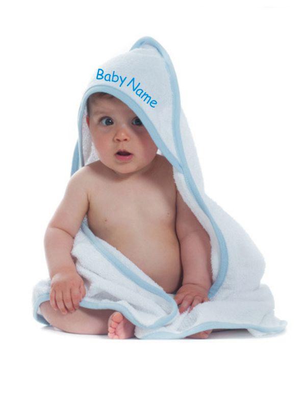 baby handtuch bestickt mit namen kapuzenbadetuch tuch bad decke kapuzenhandtuch ebay. Black Bedroom Furniture Sets. Home Design Ideas